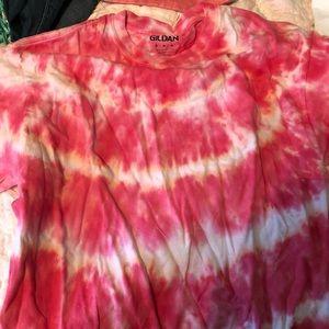tie dye short sleeve